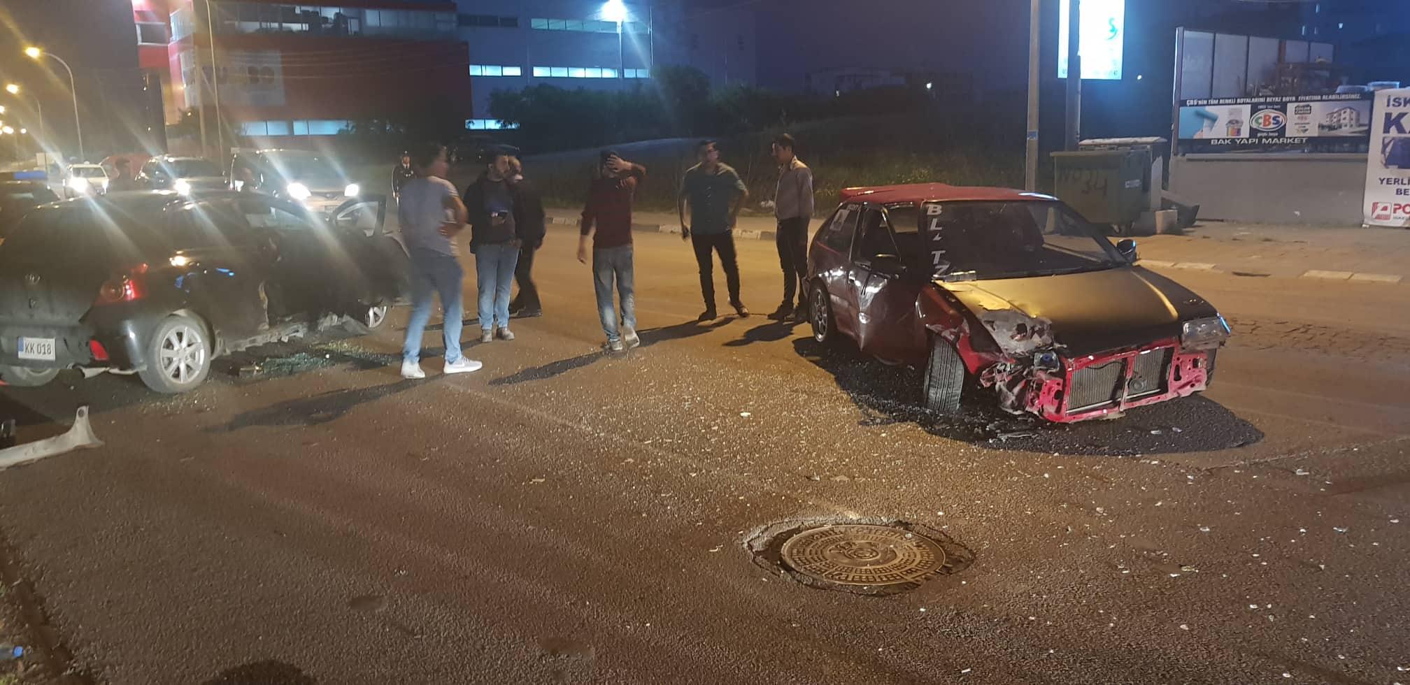 Küçük Kaymaklı'da trafik kazası