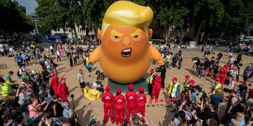 İngiltere Trump'ı böyle karşıladı