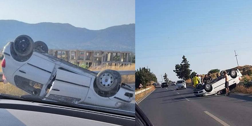 Salon araç ATV'ye çarptı: 2 hafif yaralı