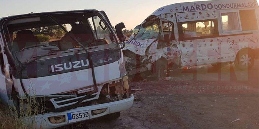 Serdarlı - Geçitkale anayolunda kaza: 2 yaralı