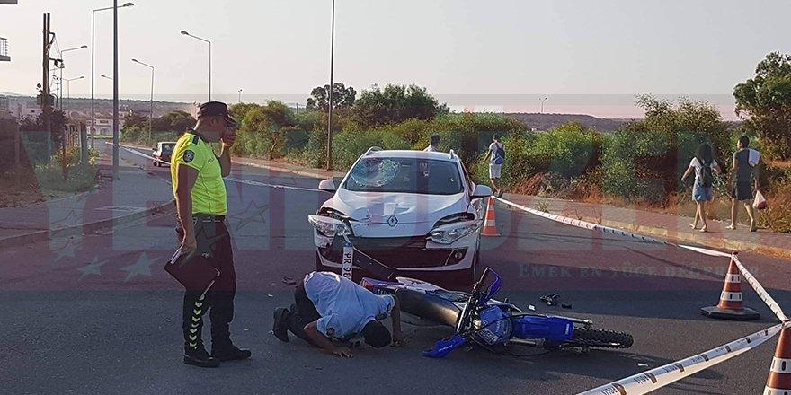 Motoksilet sürücüsü ağır yaralı