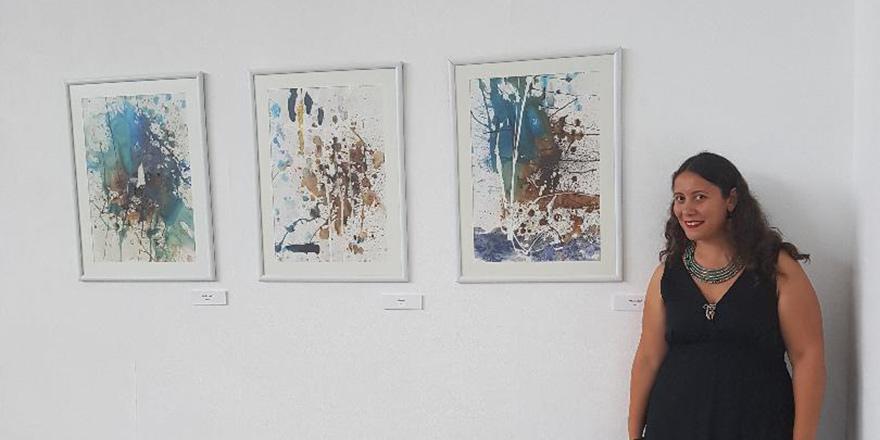 İpek Denizli'nin eserleri Litvanya'da sergileniyor