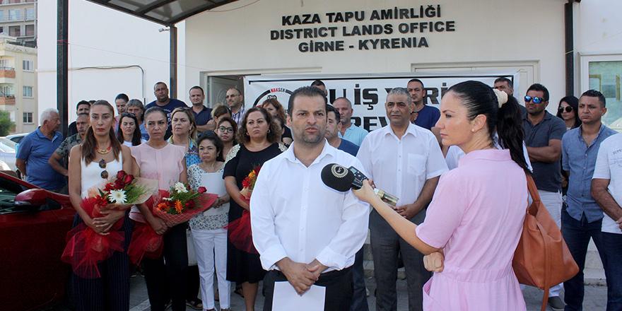 Girne Tapu'da grev