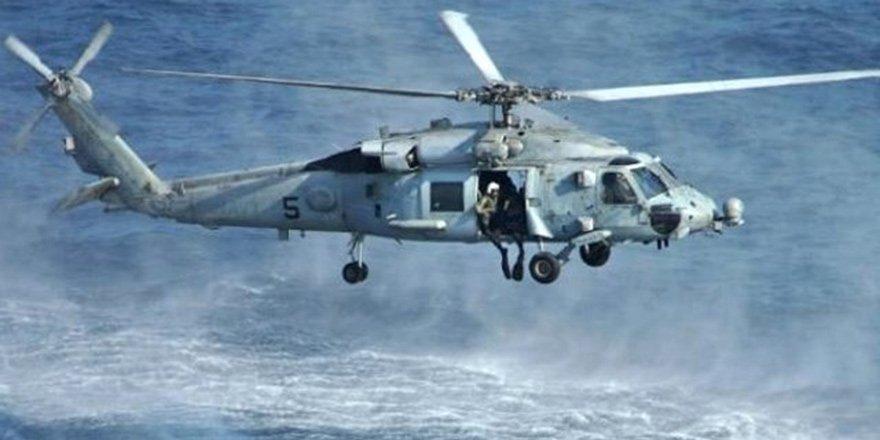 Yunanistan'da helikopter düştü