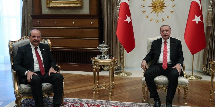 Erdoğan-Tatar: Protokol değil Kıbrıs sorunu konuştu