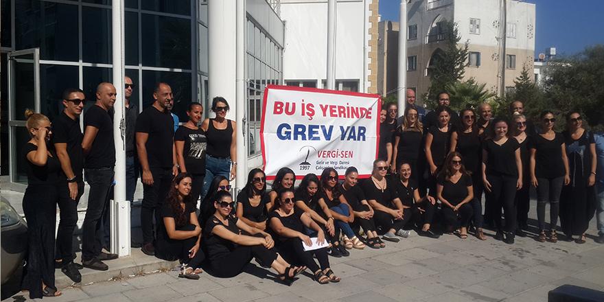 'Vergi' Girne'de grevde