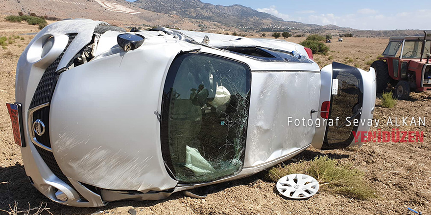 Korkutan kaza ucuz atlatıldı