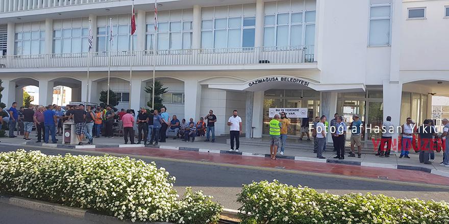Mağusa Belediyesi'nde yine grev!