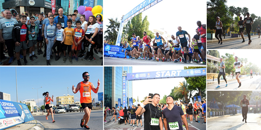 Lefkoşa Maratonu'na yoğun katılım