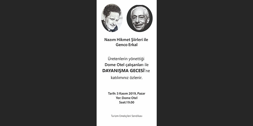 'Nazım Hikmet Şiirleri ile Genco Erkal'