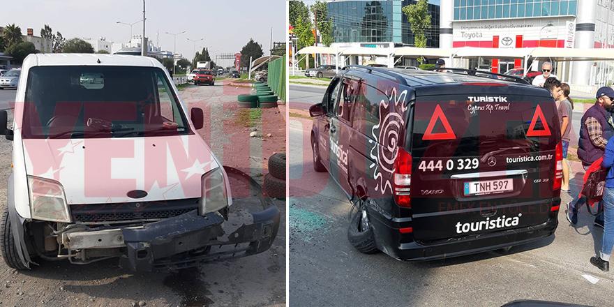 Kırmızı ışıkta geçti, kazaya sebep oldu