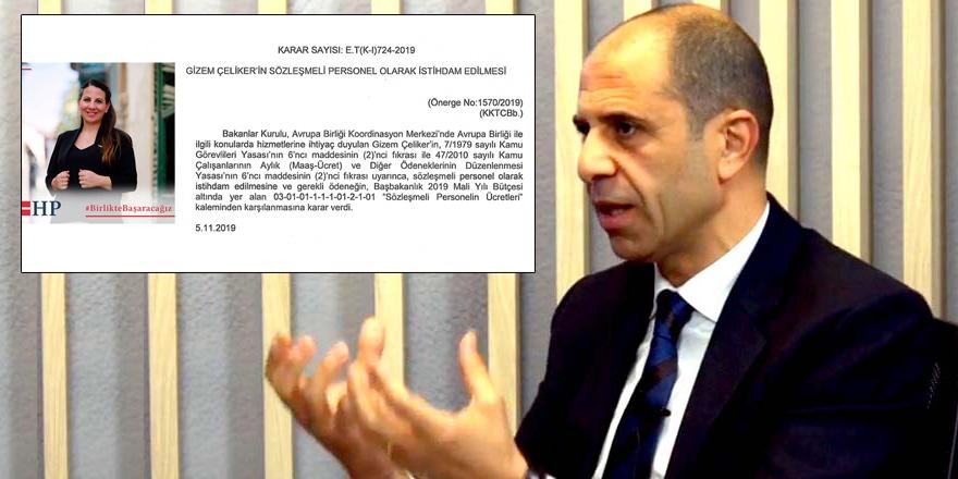 """Özersay'dan 'istihdam' açıklaması: """"Sözleşmeli  için münhale  gerek yok"""""""