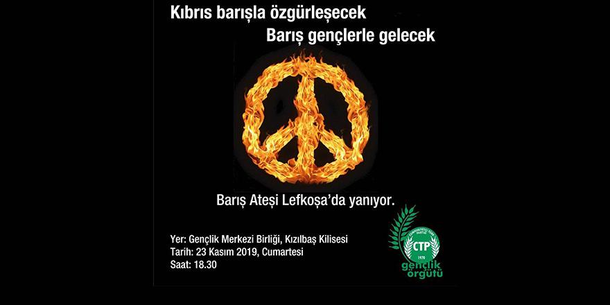 Gençler 'barış ateşi'ni Lefkoşa'da yakıyor