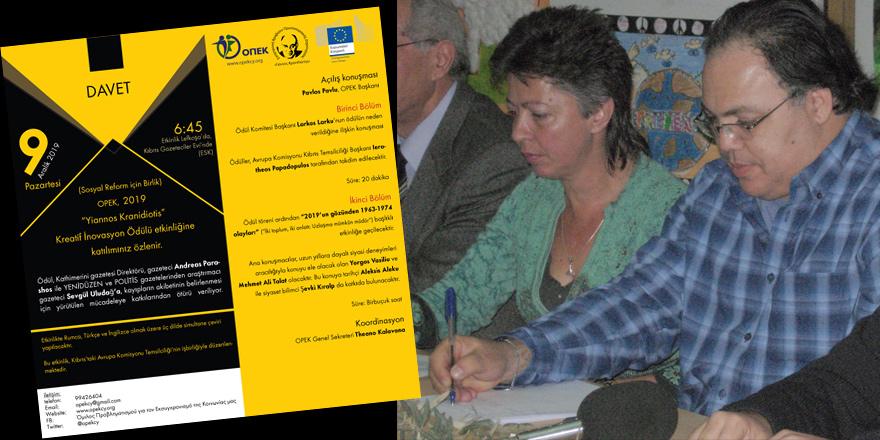 """Sevgül Uludağ ve Andreas Parashos'a """"kayıplar""""la ilgili çalışmaları nedeniyle ödül"""