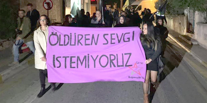 Kadına şiddete karşı yürüdüler…