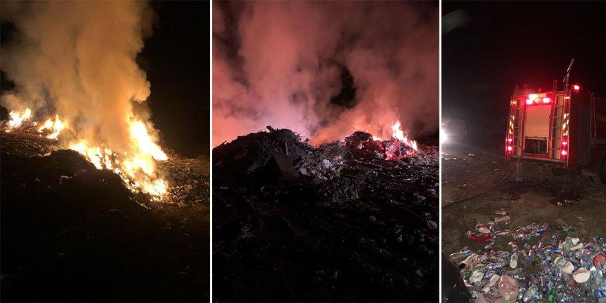 Yangınlar gece de sürdü