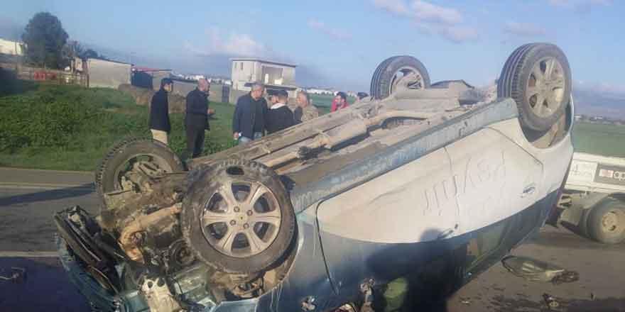 Alayköy Kermiya yolunda korkutan kaza