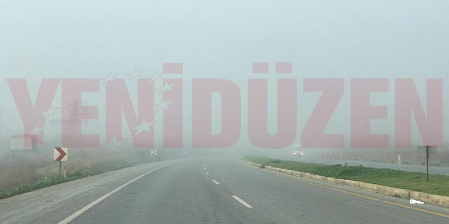 Polisten sürücülere sis uyarısı
