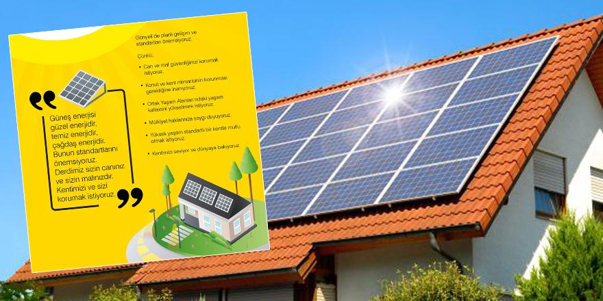 Güneş panellerine kriterler dönemi