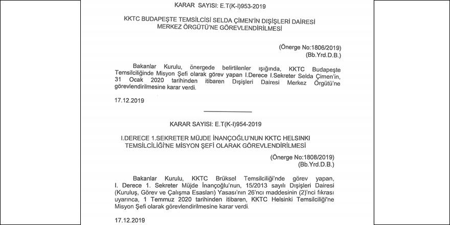 """9 dünya kentine """"KKTC Temsilcileri"""" atandı"""