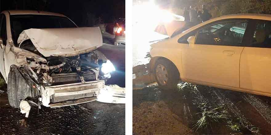 Lefkoşa-Girne yolunda kaza üstüne kaza