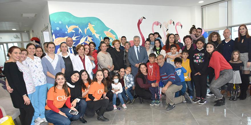 Çocuk Onkoloji servisinde yeni yıl partisi düzenlendi