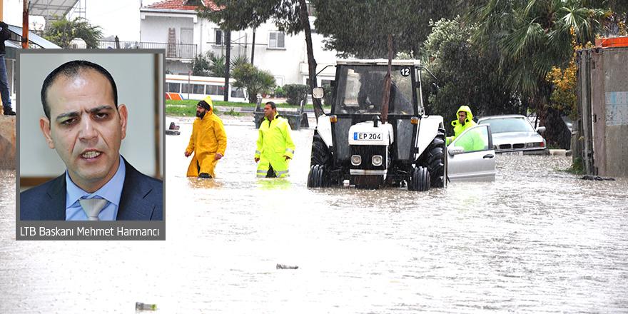 """LTB Başkanı Harmancı:    """"Sanayi bölgesi su drenajı dereye aktaracak şekilde yapılmamış"""""""