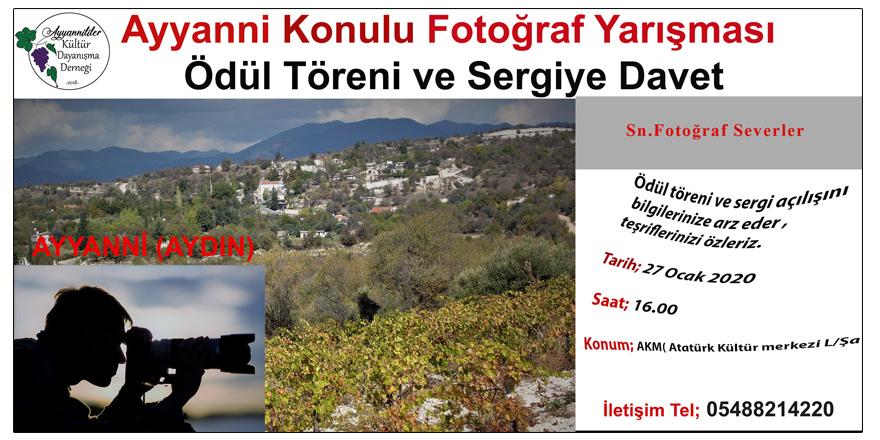 Ayanni konulu fotoğraf yarışmasının ödül töreni yarın yapılacak