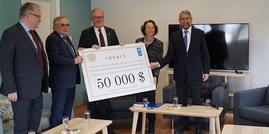 Kayıp Şahıslar Komitesi'ne 50 bin dolar bağış