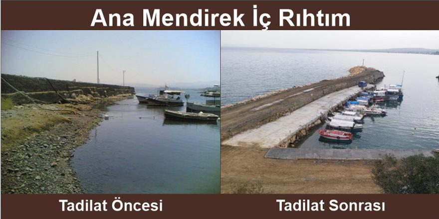 Yedidalga'daki balıkçı barınağı açıldı