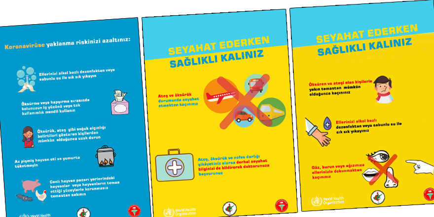 Koronavirüsü ile ilgili afişler hazırlandı
