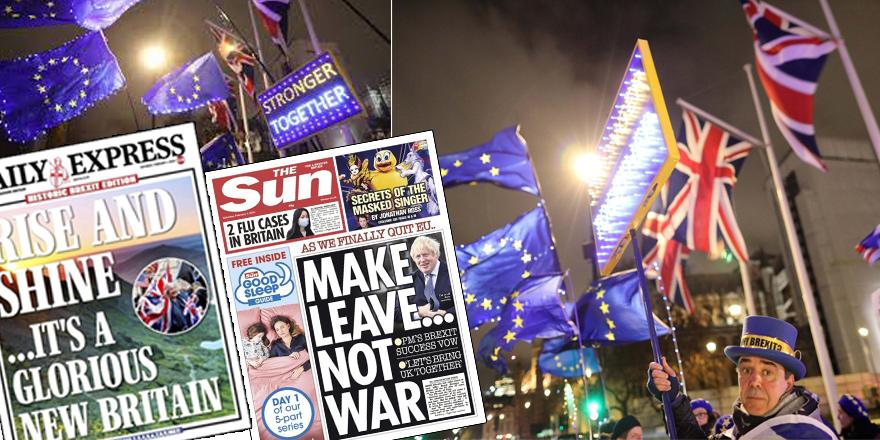 """Brexit manşetlerde: """"Şavaşma ayrıl"""""""