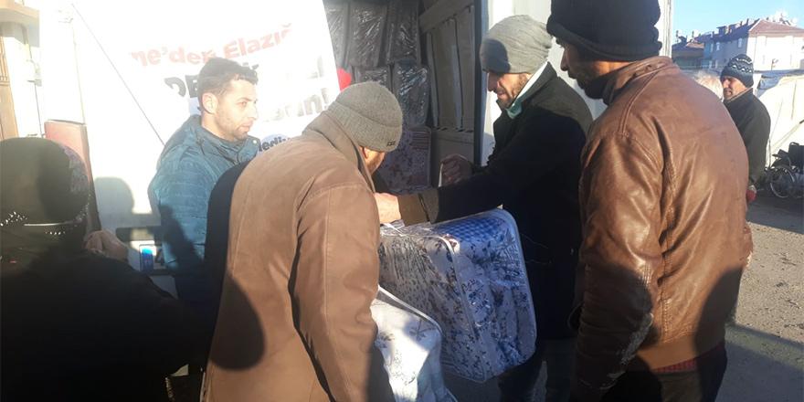 Girne'nin yardımları Elazıg'a ulaştı