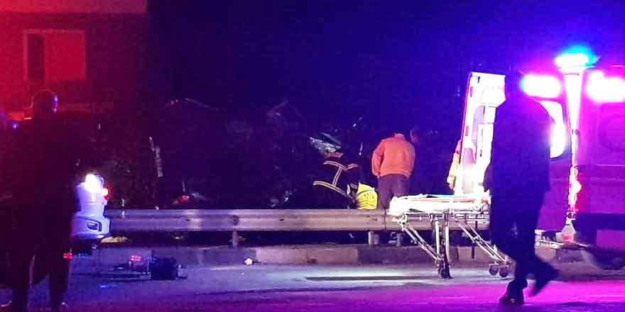 Mağusa'da trafik kazası