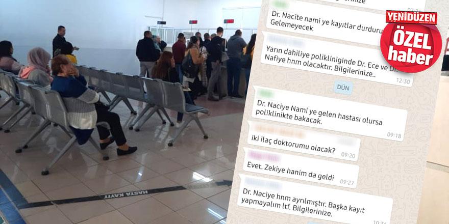 Hastanede 'seçim istihdamı' eylemi!