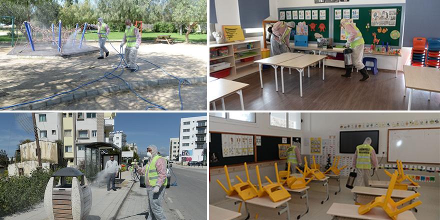 Gönyeli Belediyesi dezenfekte çalışmaları başlattı