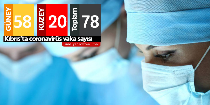 Kıbrıs'ta toplam vaka sayısı 78
