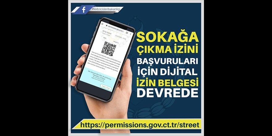 Sokağa çıkma izini başvuruları için dijital izin belgesi devrede