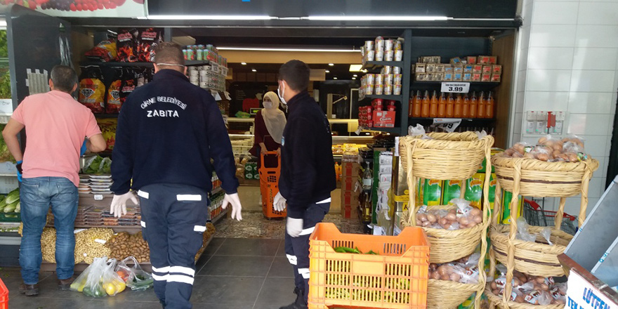 """""""Girne'deki 5 farklı market personelinde vaka yok"""""""