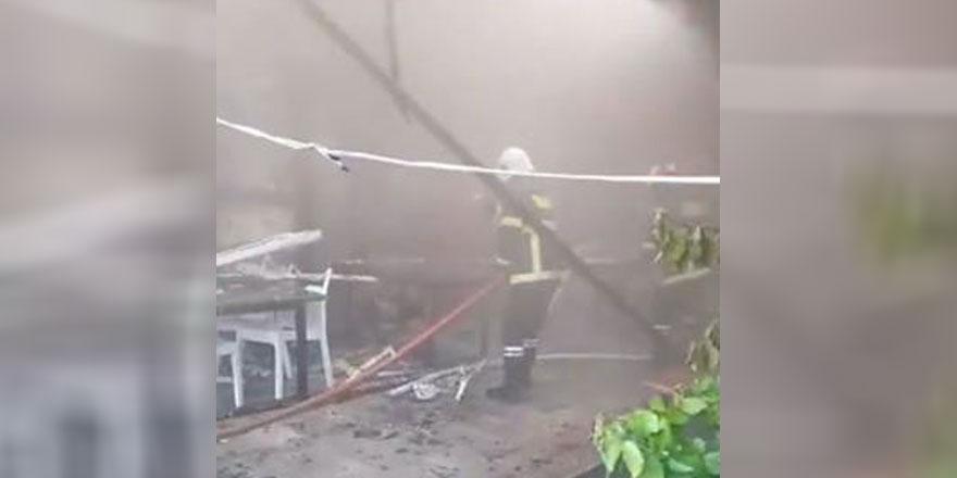 Türkmenköy'de yangın,1 ölü