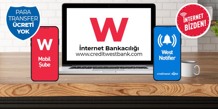 Credıtwest Bank, tüm hizmetlerini ATM ve dijıtal ortamda sunuyor