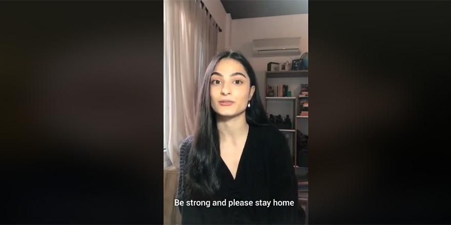 Kıbrıslı öğrencilerden 'evde kal' çağrısı