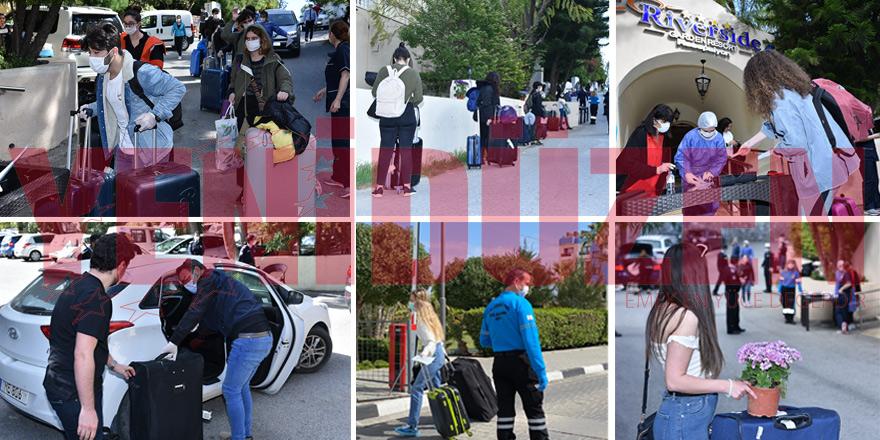 Öğrenciler ailelerine kavuştu