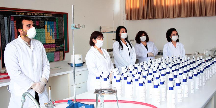 Mağusa TMK dezenfektan üretimine başladı