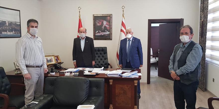 Tatar, İşverenler Sendikası heyetini kabul etti