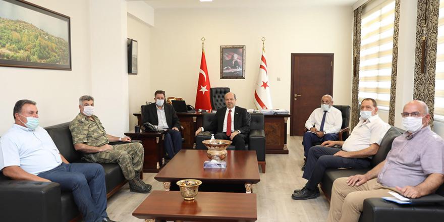 Başbakan Tatar, yangınlarla ilgili teknik ekiplerle görüştü