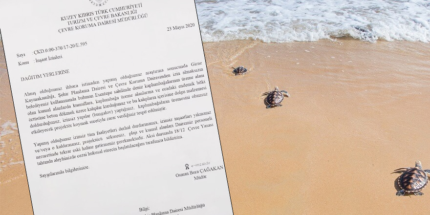 Esentepe'de sahile beton dökme girişimi