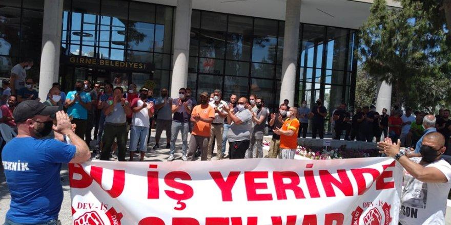 Girne Belediyesi'nde 2 saatlik uyarı grevi