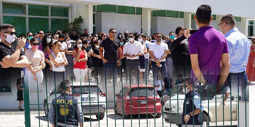 Levent'te okul idaresi velilerle görüştü