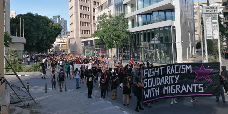 Lefkoşa'nın güneyinde ırkçılık karşıtı eylem